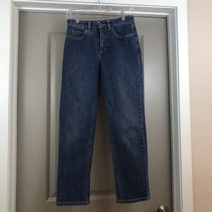 Talbots petites straight leg jeans with stretch